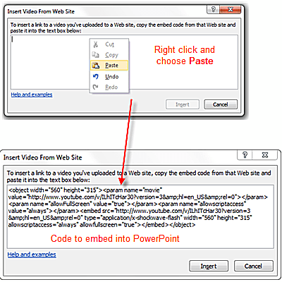 How to embed youtube videos in powerpoint 2010 paste html code for youtube video into powerpoint ccuart Images
