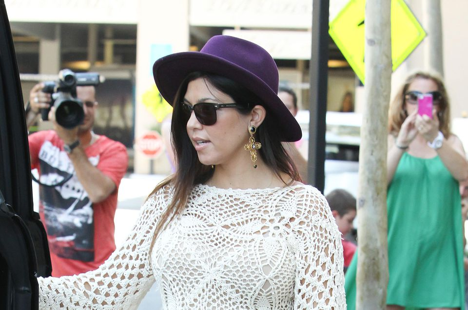 Kourtney Kardashian in Crochet