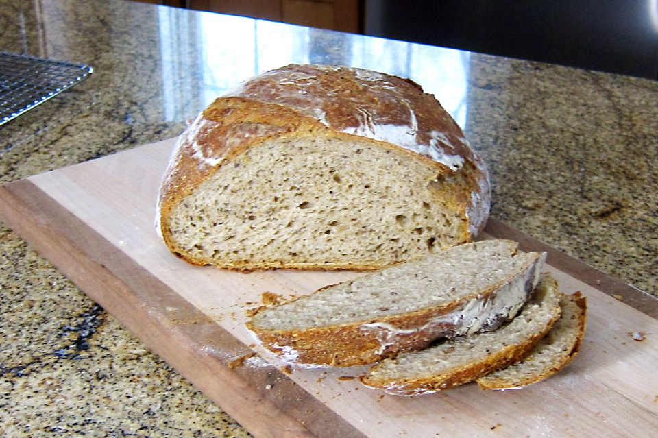 No Knead Beer Rye Bread