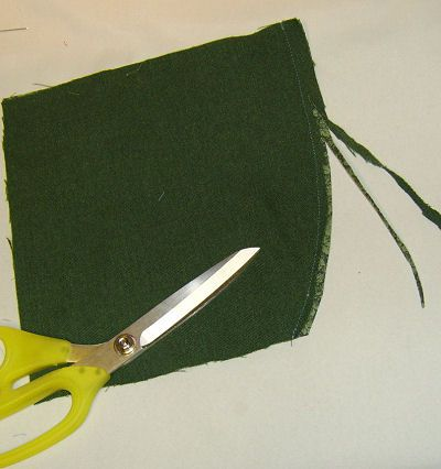 A photo showing how the seam should be graded.