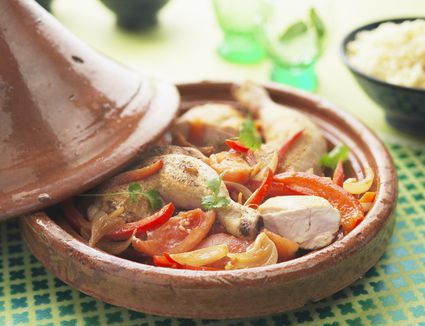 Moroccan cookbooks list of recipe books about moroccan cuisine a tasty yet traditional moroccan chicken tagine forumfinder Gallery