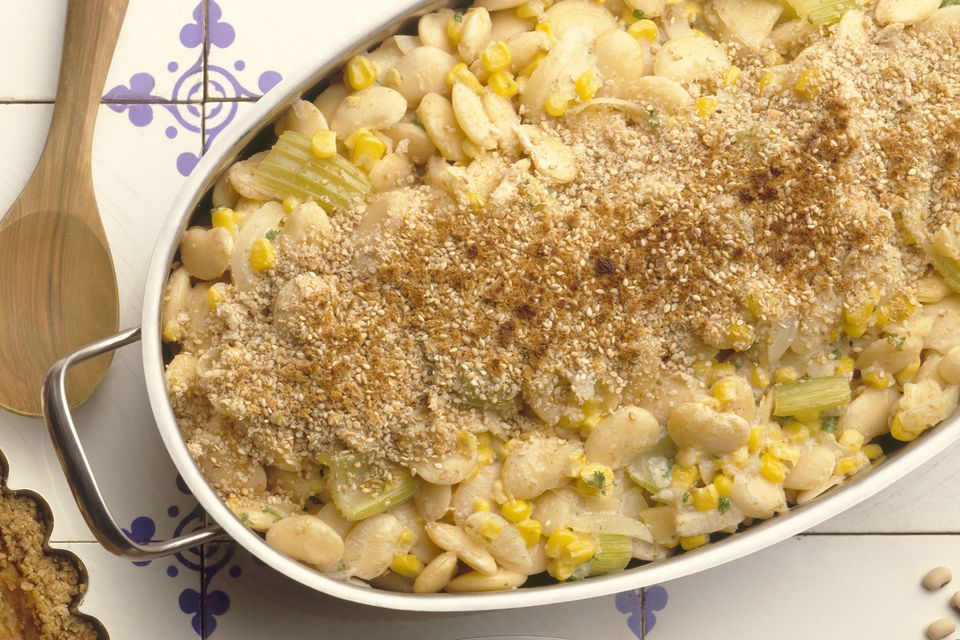 Easy Succotash Casserole Recipe With Lima Beans And Corn