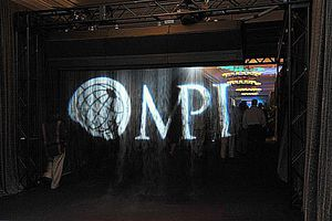 Fogscreen of MPI Logo