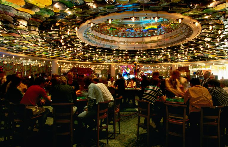 Gamblers at Reef Casino.