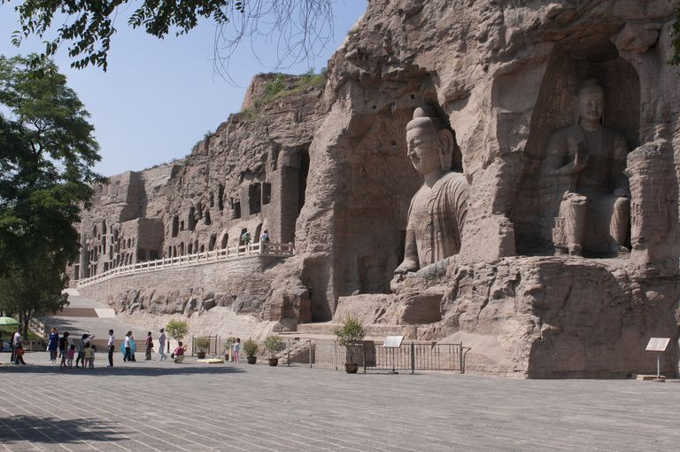 Giant Buddhas at the Yungang Grottoes,