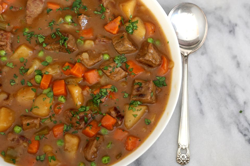 lamb stew with parsley