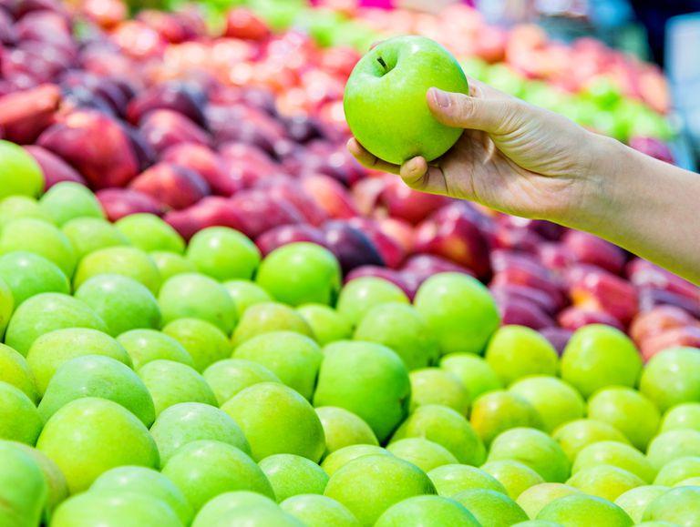 holding an apple