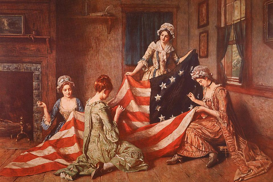 Sewing an American Flag