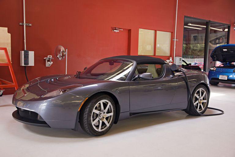 Tesla with regenerative braking