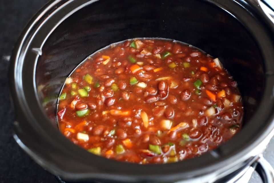 Barbecue Beans With Bacon, Slow Cooker