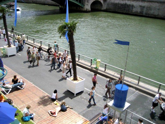 Paris Plages is a beloved seasonal event in August.