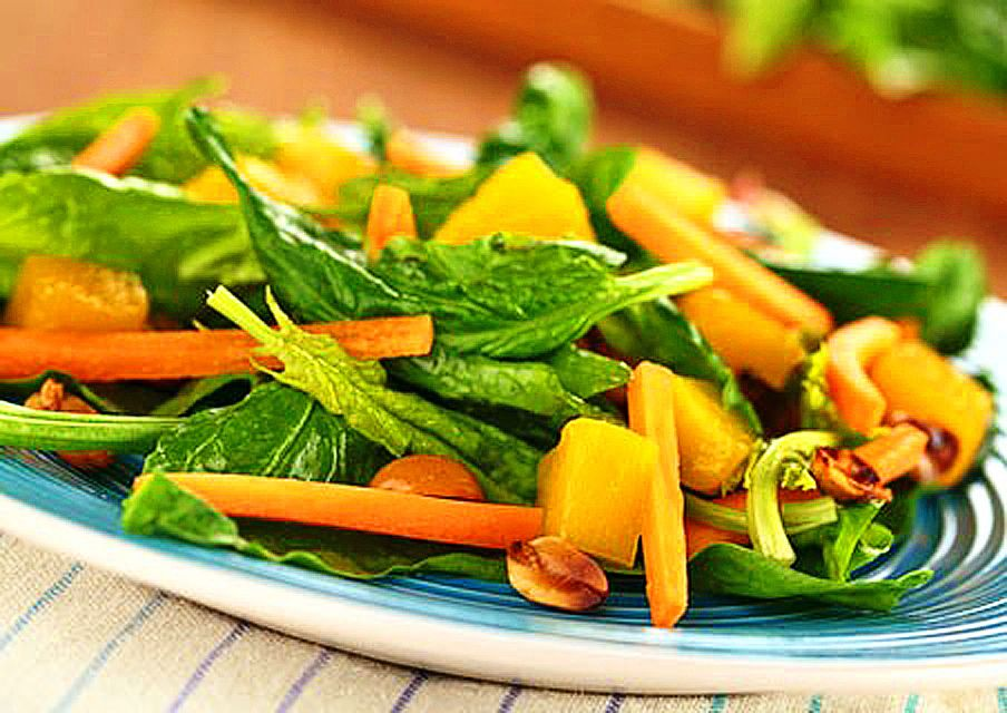 Thai Green Salad With Mango Basil Peanuts