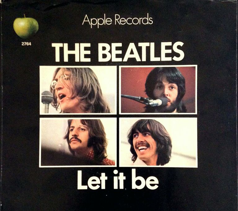 "The original US 45 sleeve for ""Let It Be"""