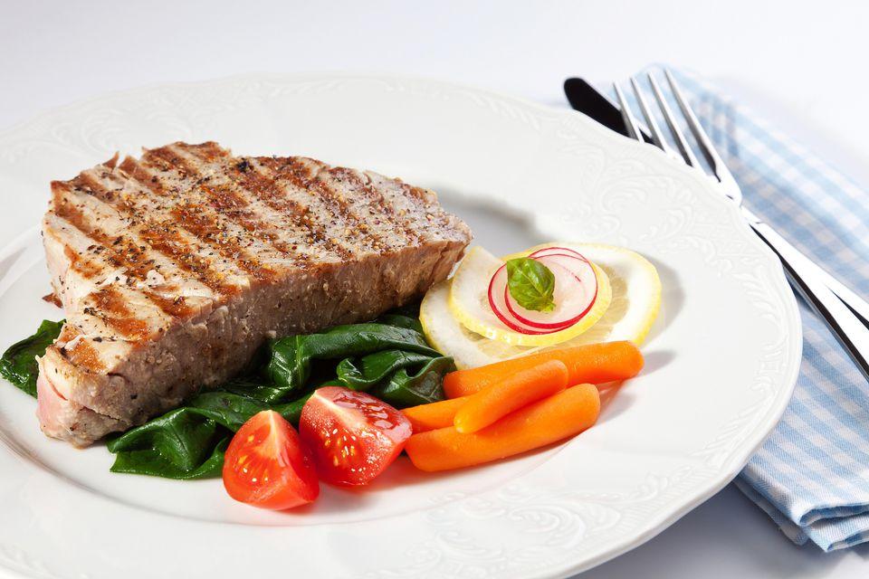 Grilled Bourbon Tuna Steaks