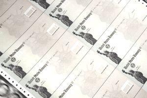 Blank Social Security checks.