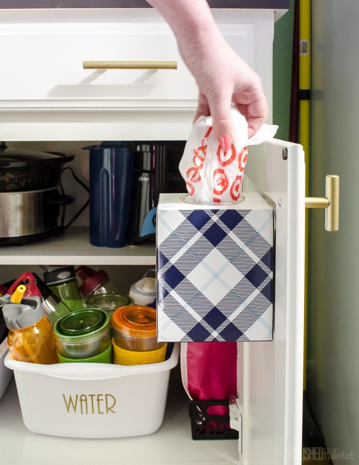 Tissue Box to Store Plastic Bags