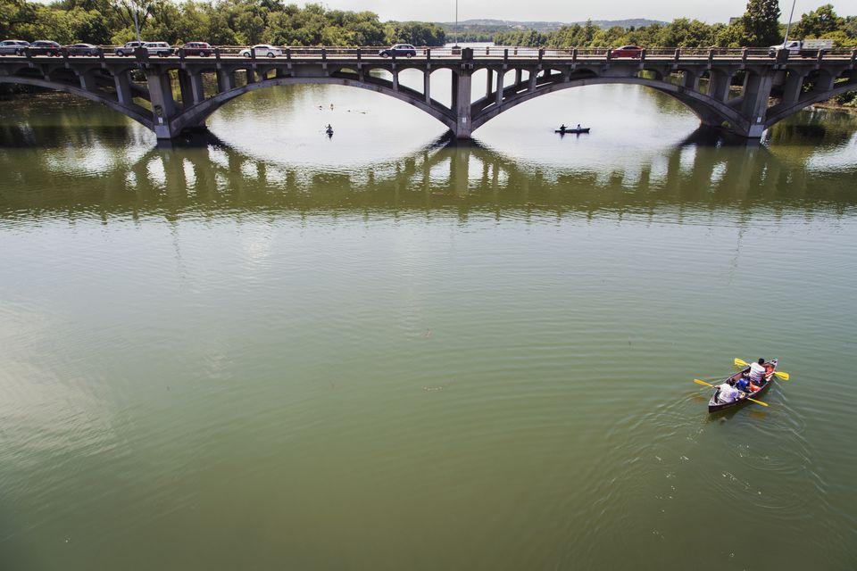 Kayaking on Town Lake, Austin