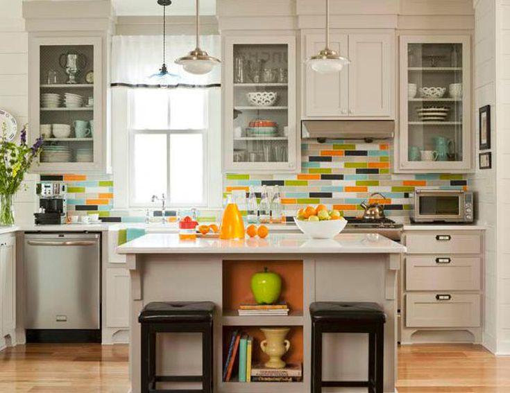 Glass Subway Tile Backsplash Light Color Action Kitchen Backsplashes