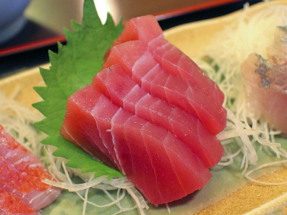 Tuna sashimi recipe with daikon and ginger for What is sushi grade fish