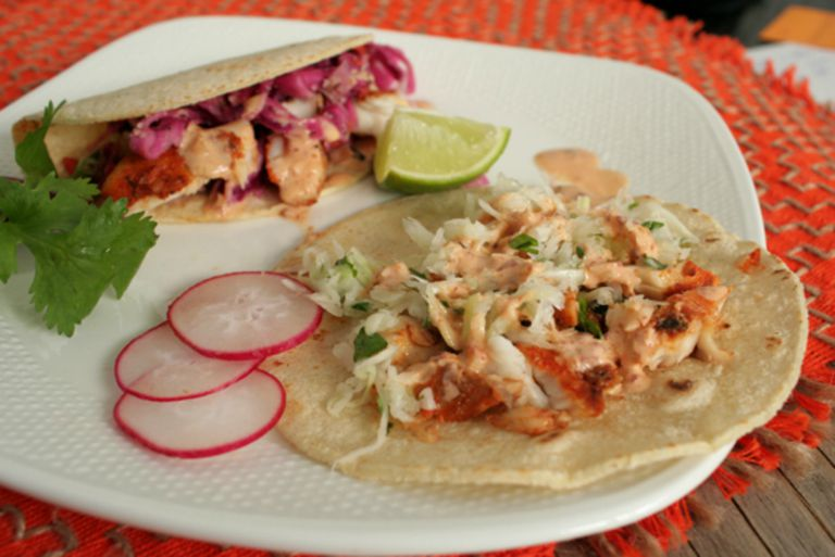 Healthy dinner recipes and tips for weight loss for Tilapia fish tacos