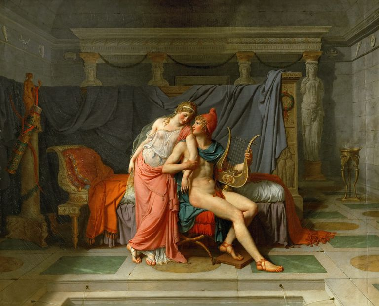 The Loves of Helen and Paris. Artist: David, Jacques Louis (1748-1825)