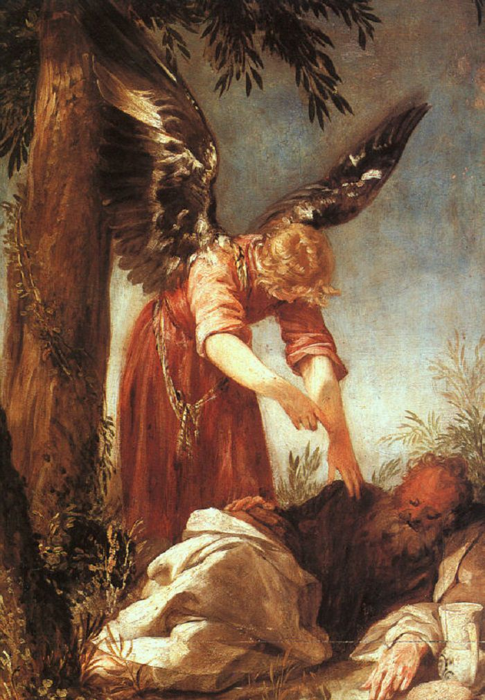 Angel of the Lord with prophet Elijah