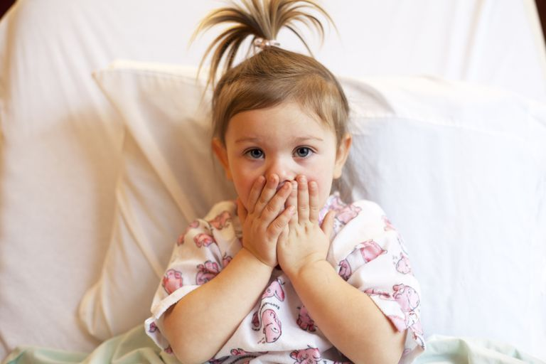 toddler before surgery