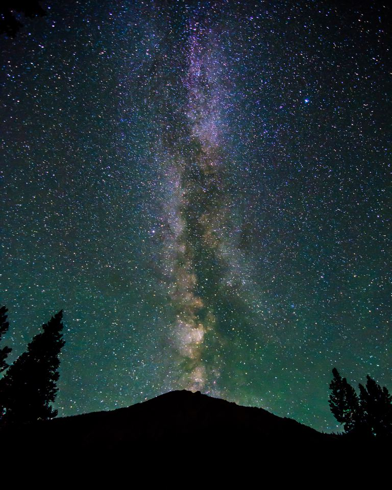 The Milky Way over Mount Elbert