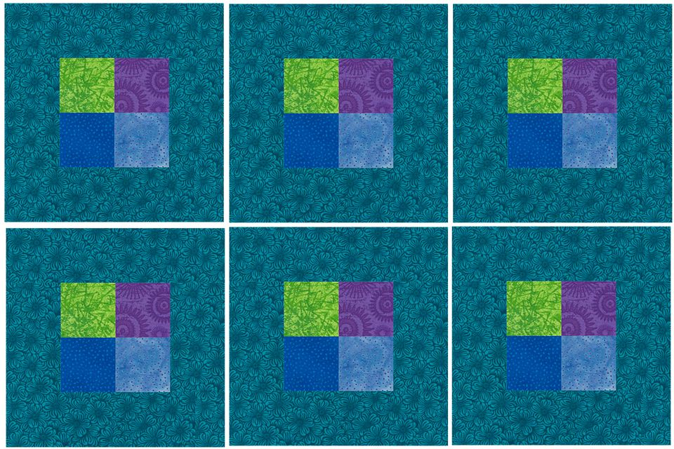 Contemporary Framed Four Patch Quilt