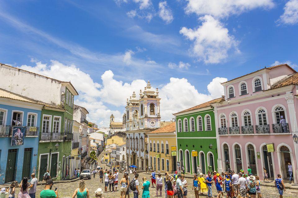 Pelourinho in a clear day in Bahia