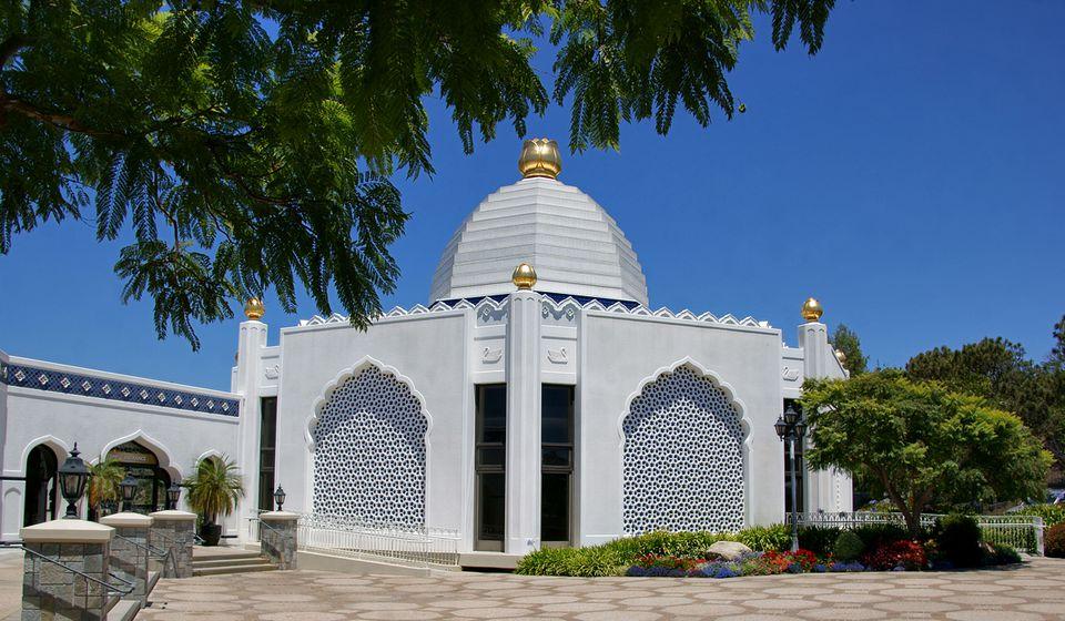 Shrine lake temple in Los Angeles