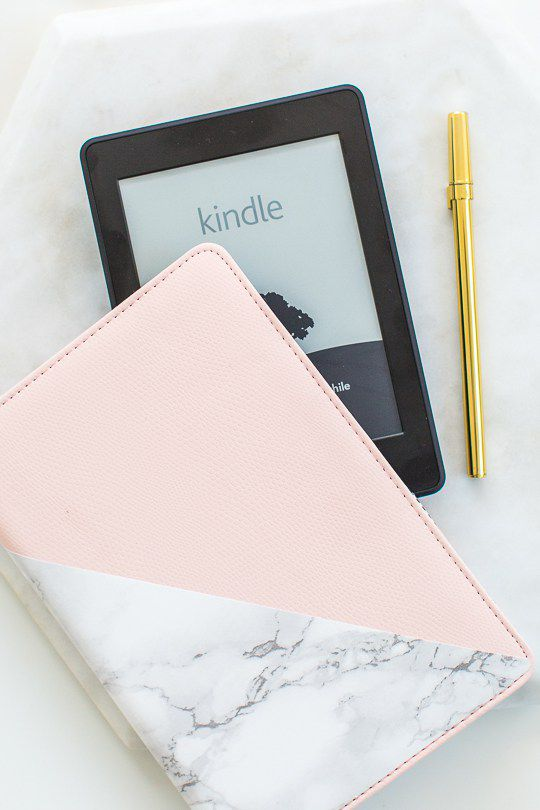 DIY Marble Accent Kindle Or Tablet Cover