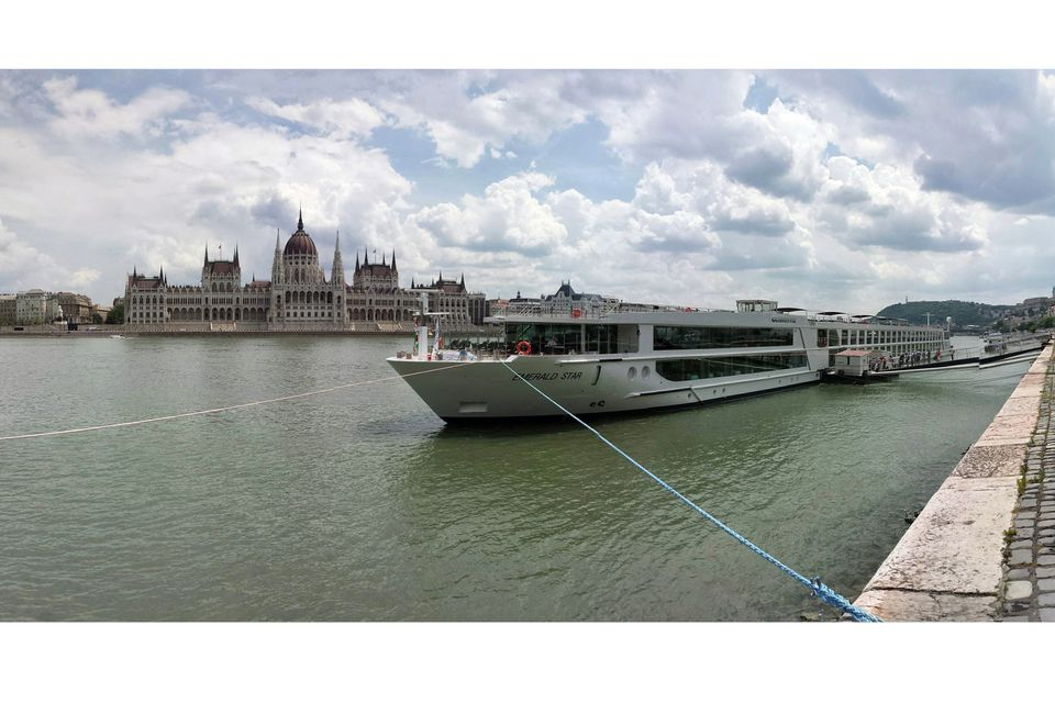 Emerald Star river cruise ship in Budapest, Hungary