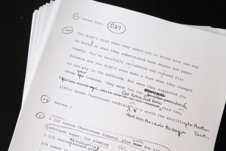 Peterson's Holiday Helper manuscript page
