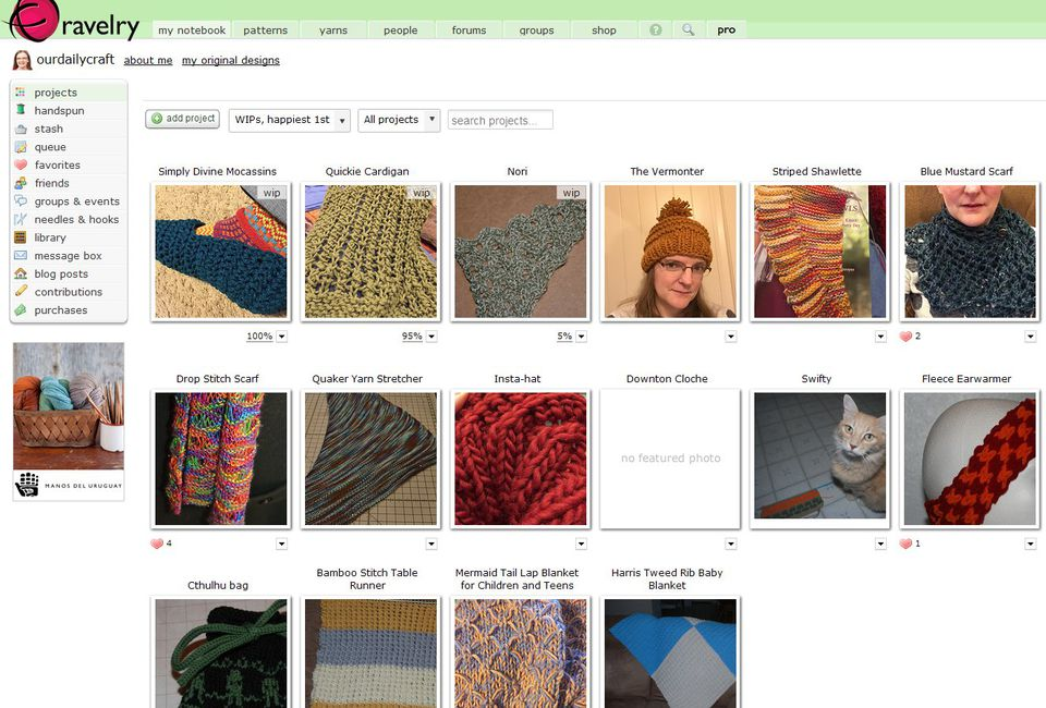All knitters ought to know about the online community of Ravelry.