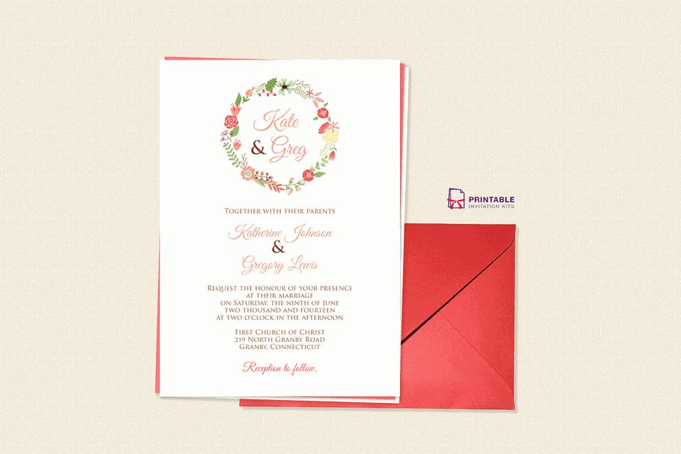 Online sources for printable wedding invitations printable invitation kits junglespirit Images