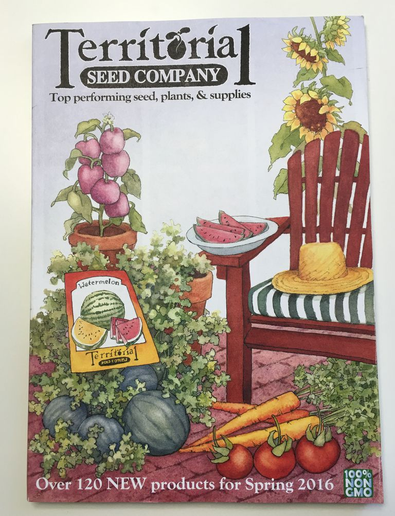 The cover of the Spring 2016 Territorial Seed Company catalog.