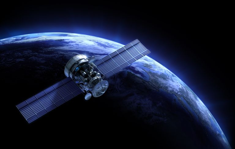 Satellite and planet