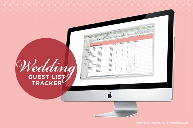 Free Wedding Guest List Templates And Managers