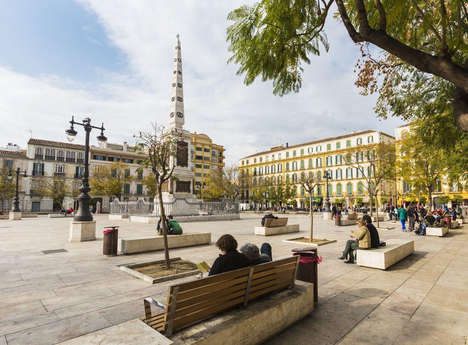 Malaga, Spain. Plaza de la Merced.