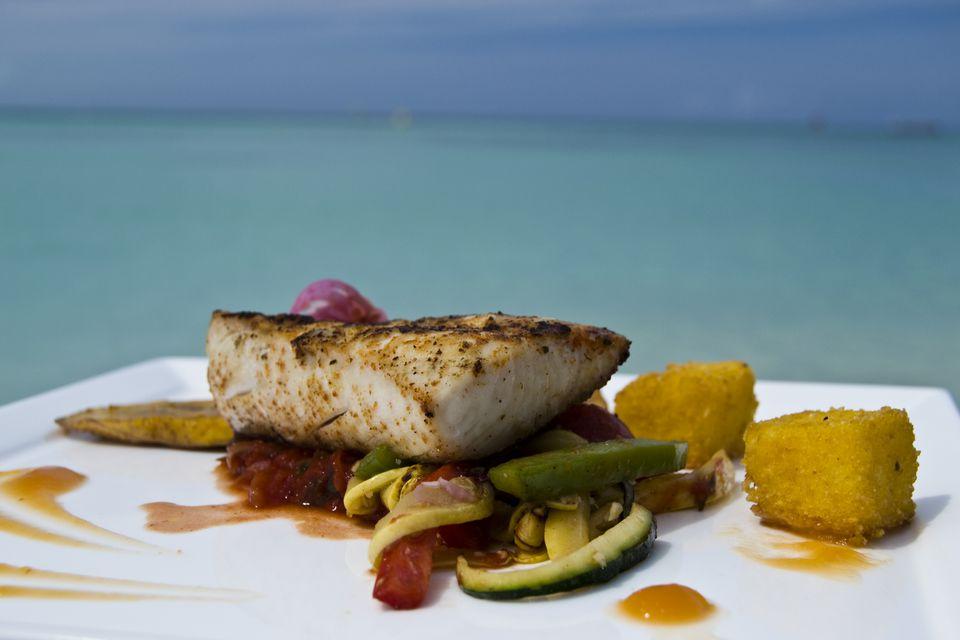 Local mahi-mahi fish dish