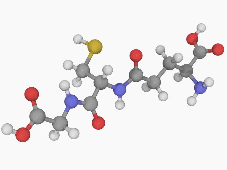 Illustration shows the glutatione molecule.