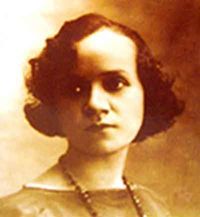 Retrato de Matilde Hidalgo de Procel, primera mujer latina que pudo votar.