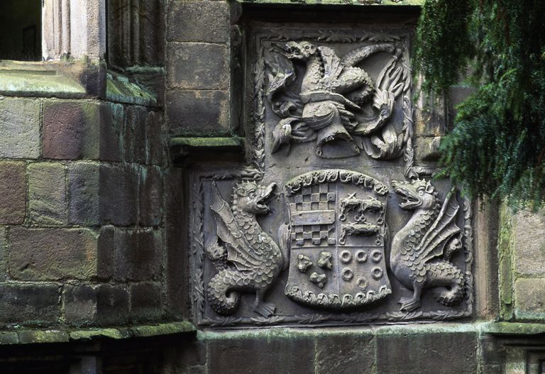 Coat of arms, Skipton Castle, North Yorkshire, England, 11th-17th century