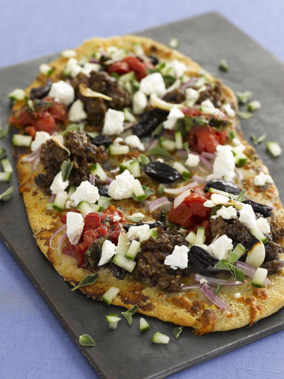 Greek Grilled Pizza