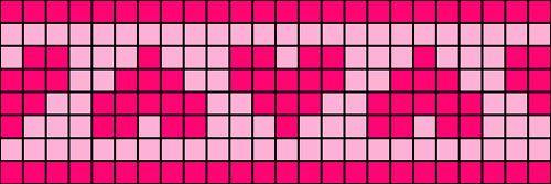 Free Printable Filet Crochet Chart for Hearts Trim