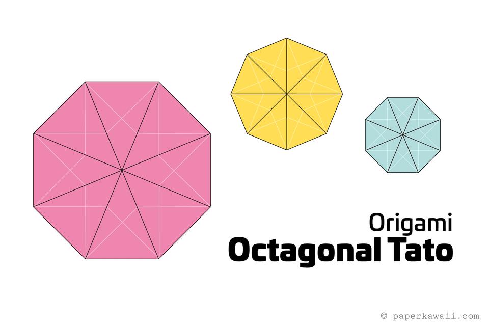 Origami Octagonal Tato Diagram 1