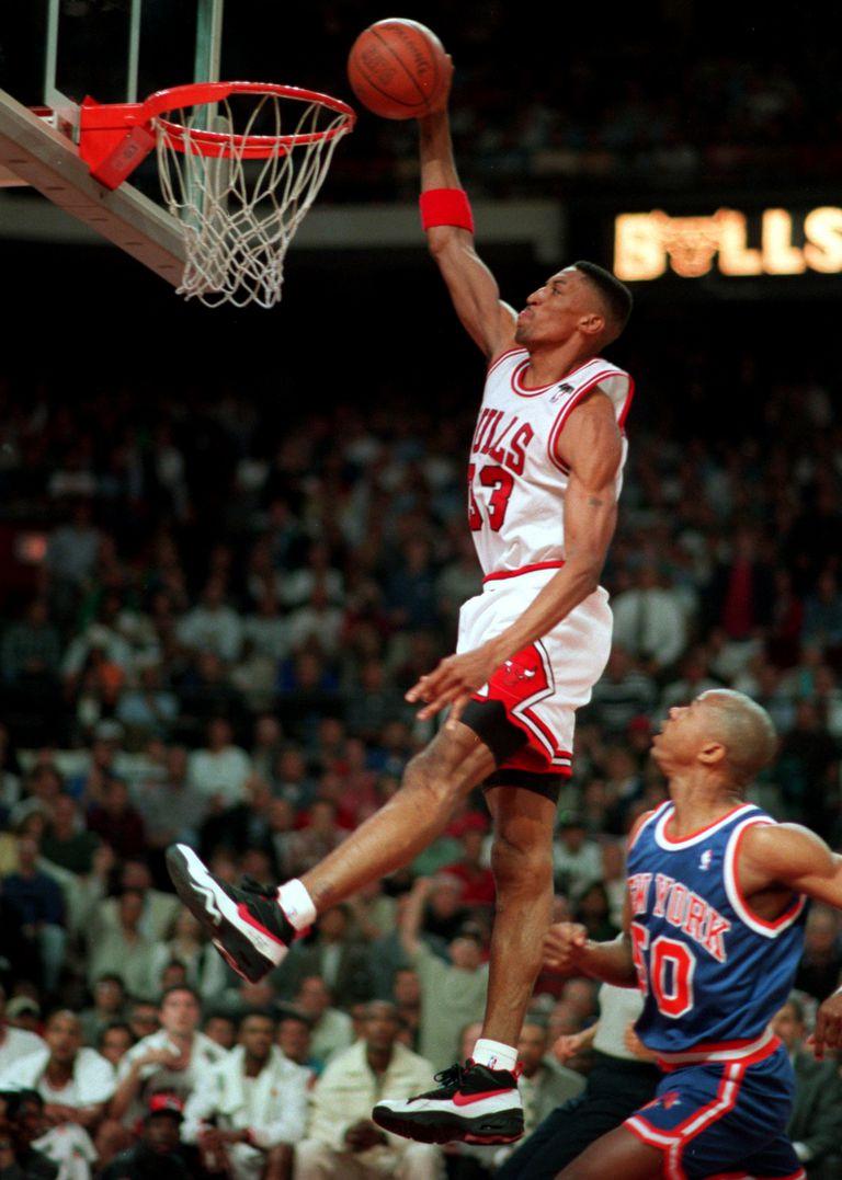 Scottie Pippen wearing Nike Air Swift