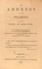An Address to the Negroes of the State of New York, by Jupiter Hammon