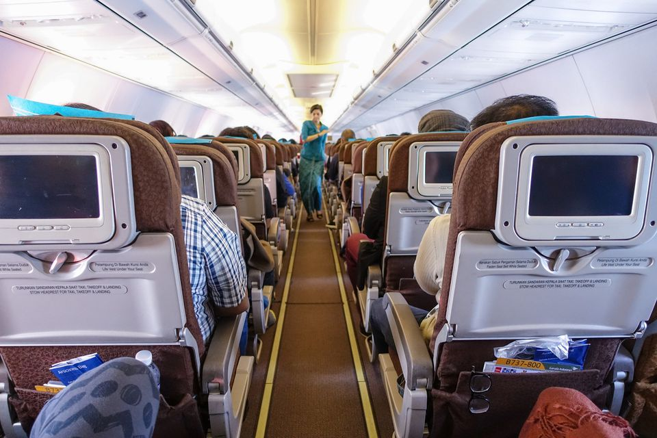 Economy class in Garuda Indonesia